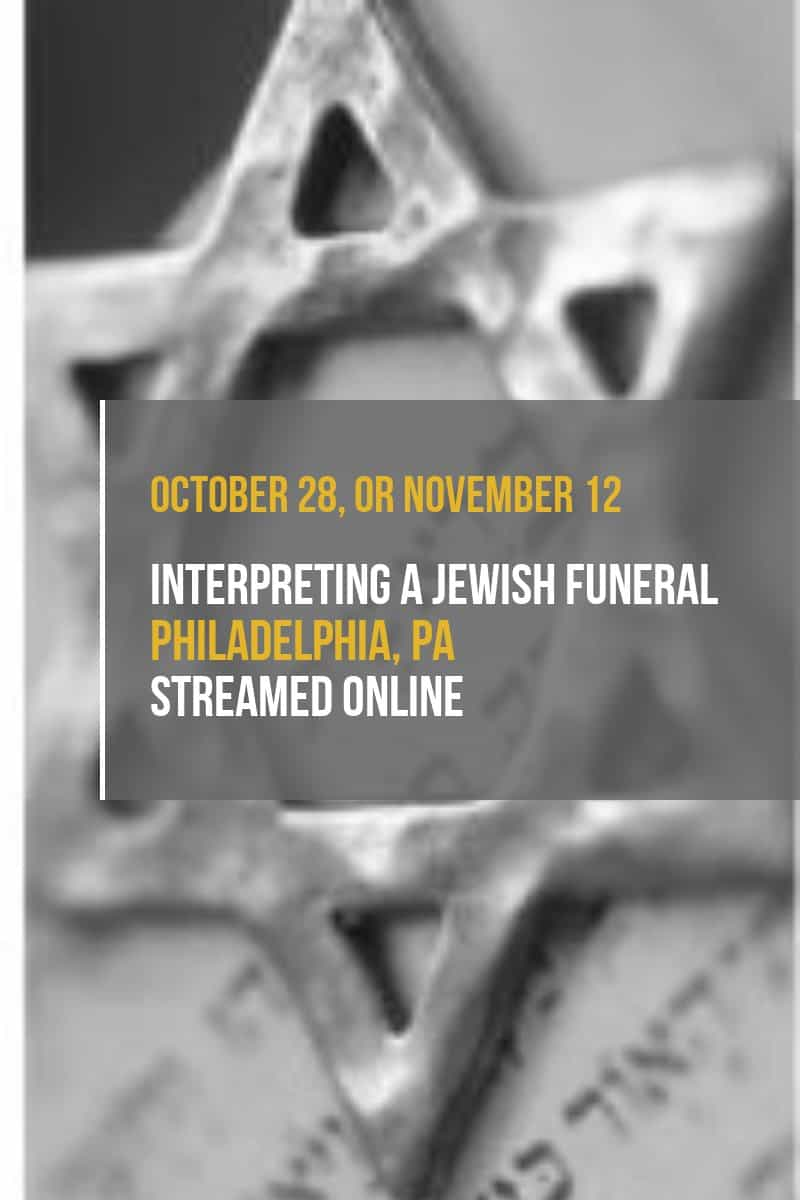 Interpreting a Jewish Funeral