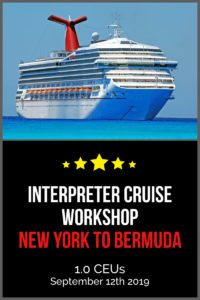 Interpreter Cruise Workshop