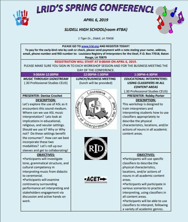 LRID Spring Conference