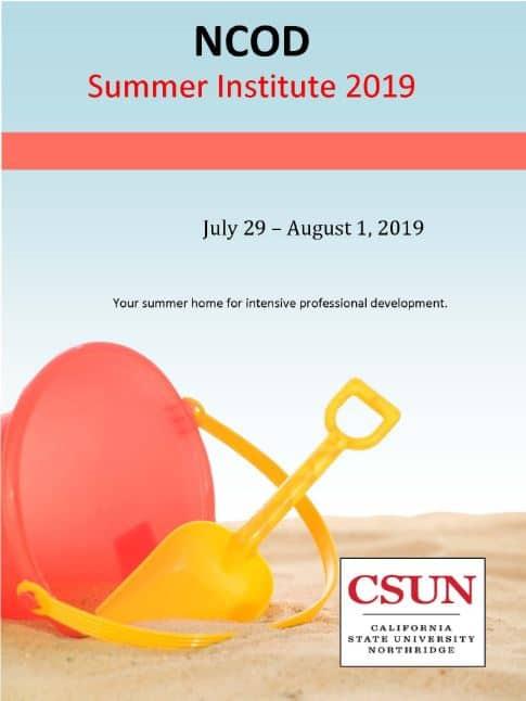 NCOD Summer Institute 2019