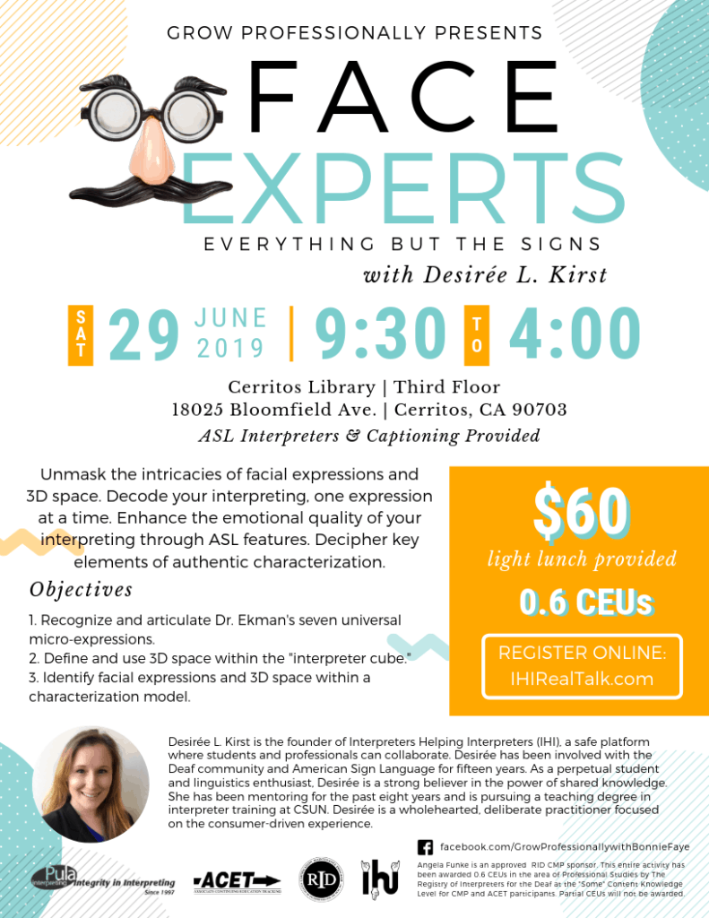 Face Experts CEUs