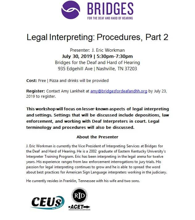 Legal Interpreting