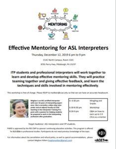 Mentor Workshop RID Ceus